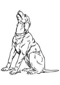 Coloriage chien qui hurle - Coloriages Gratuits à Imprimer
