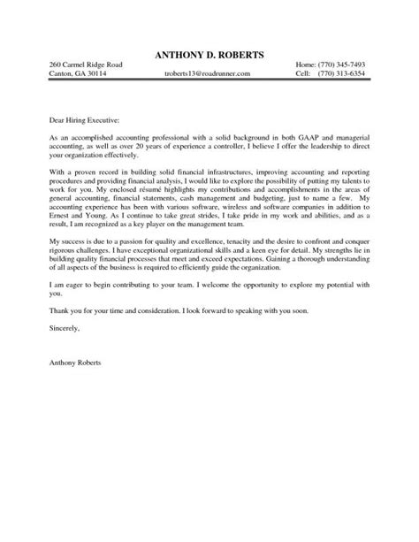 Covering Letter Of Resume For by Sle Covering Letter For Resume