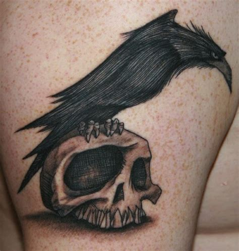 tattoos by raven black and grey on skull design by bekka