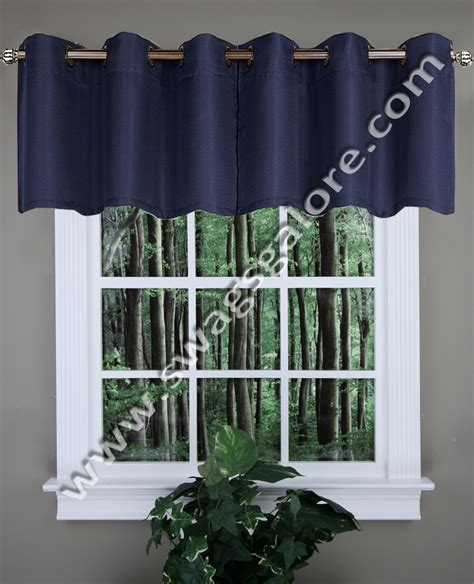 mansfield valance navy united kitchen valances