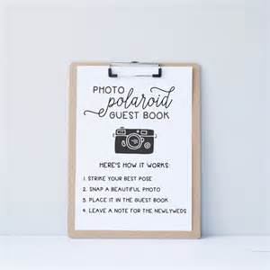 photo guest book template wedding polaroid guest book guestbook alternative by