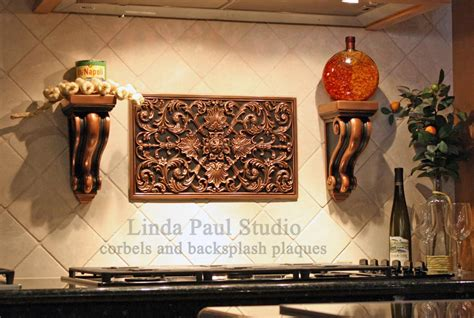 Kitchen Backsplash Metal Medallions by How To Install Metal Tile Accents And Stone Mosaic Medallions