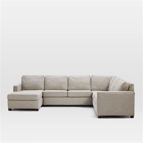 henry sectional henry 174 4 piece chaise sectional 160 quot w gravel twill