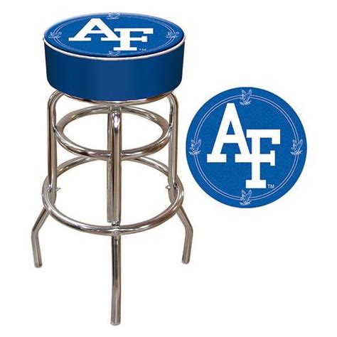 Trademark U S Army 30 In Chrome Padded Trademark Commerce Clc1000 Af Air Padded Bar Stool
