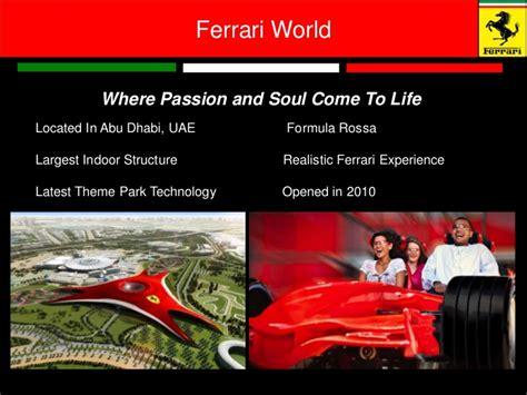 Ferrari World Working Hours by Ferrari Management Branded