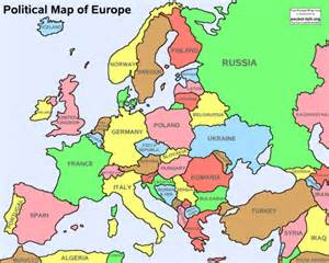 Europe map political