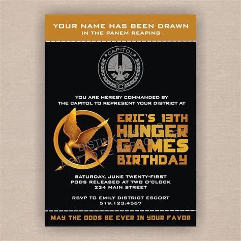 printable hunger games birthday invitations 17 best images about noelle sweet 16 on pinterest