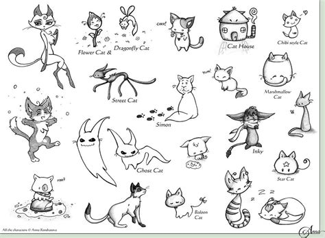 doodle cat drawing cat designs doodles by stardust on deviantart