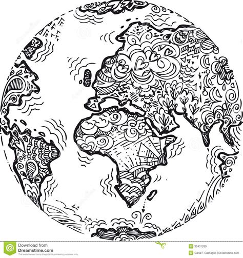 earth mandalas coloring pages planet earth sketched doodle by carla f castagno via