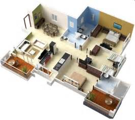 3 Bedroom House Designs Pictures by Free 3 Bedrooms House Design And Lay Out