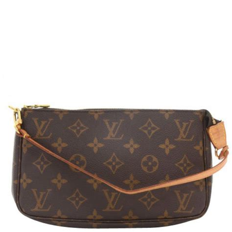 louis vuitton vintage monogram canvas pochette bag