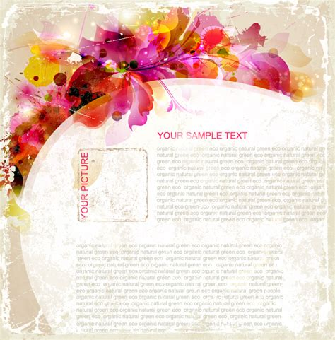 Floral Card Template Free by Floral Card Template Vector Free Vector Graphic
