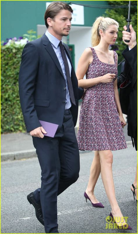 pregnant tamsin egerton and josh hartnett spotted at wimbledon daily josh hartnett tamsin egerton make first appearance after