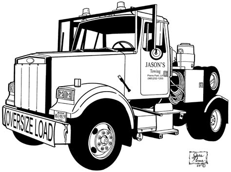 coloring pictures of trucks coloring home