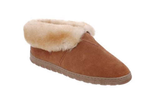 mens leather sheepskin lined slippers rj s fuzzies mens sheepskin leather lined bootie slippers