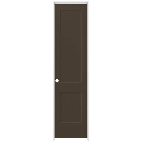 Jeld Wen 24 In X Jeld Wen 24 In X 96 In Smooth 2 Panel Chocolate Solid Molded Composite Single