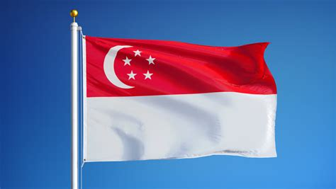 Singapore Flag Waves In Wind From Flagpole On Top Of Philippines National Flag Coloring