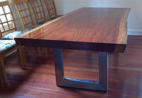 custom dining room table handmade dining table custom dining table infused with wood metal tubing threaded rod and