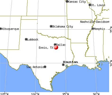 ennis texas map ennis texas tx 75152 75165 profile population maps real estate averages homes