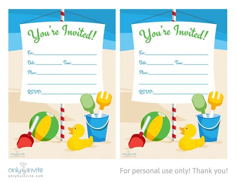 template birthday invitation card template blank invitation templates free for word
