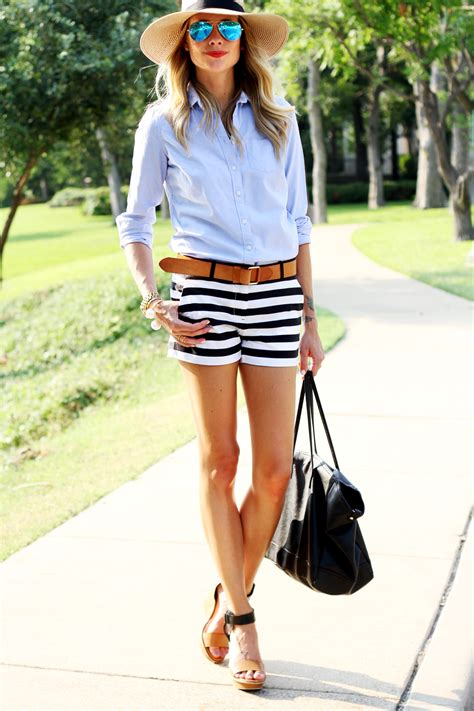 Stripe Belt Set Top Shorts Grey summer stripes fashion jackson