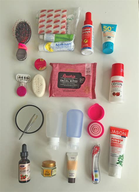 carry on bathroom items the complete travel toiletries list pack right every time