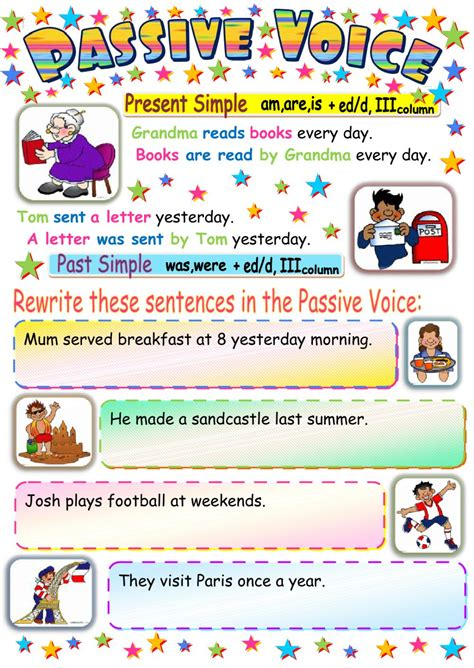let s teach english passive voice board game worksheet passive voice worksheet grass fedjp worksheet