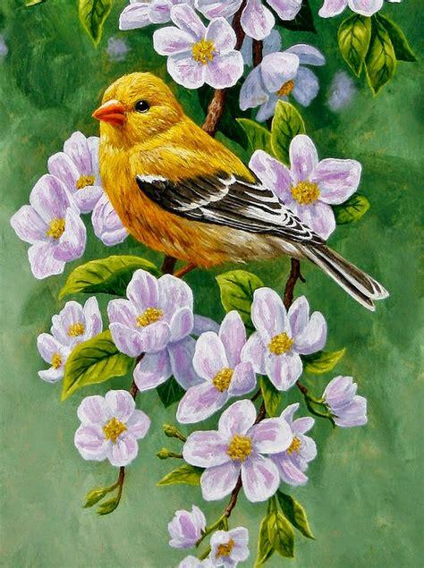 cuadro con flores im 225 genes arte pinturas cuadro pintado con flores y pajaros