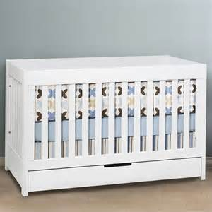 Baby White Cribs Babyletto Mercer 3 In 1 Convertible Wood Baby Crib In White Contemporary Cribs Other Metro