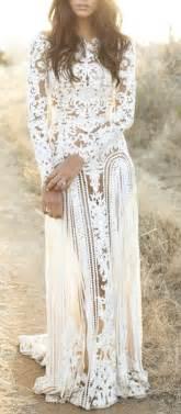 Wedding hippie style lace wedding dress boho fashion bohemian