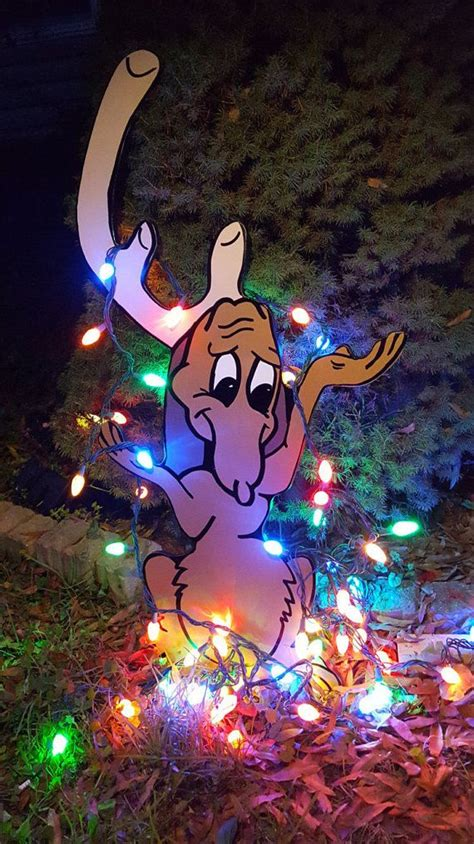 The Grinch And Max Stealing Christmas Yard Art Hand Grinch Lights