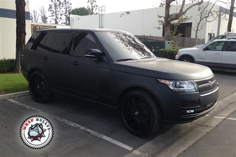 matte orange range rover range rover autobiography wrapped in 3m deep matte black