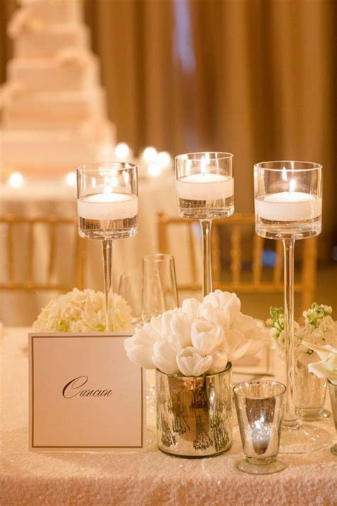 wedding reception decorations with candles 20 simple and chic candle centerpieces