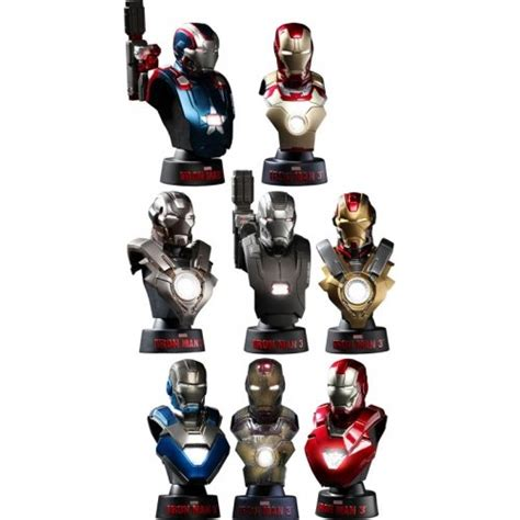 Toys 16 Bust Deluxe Set Series 1 megastore collectible figures accessories toys 1 6 scale iron 3 deluxe bust