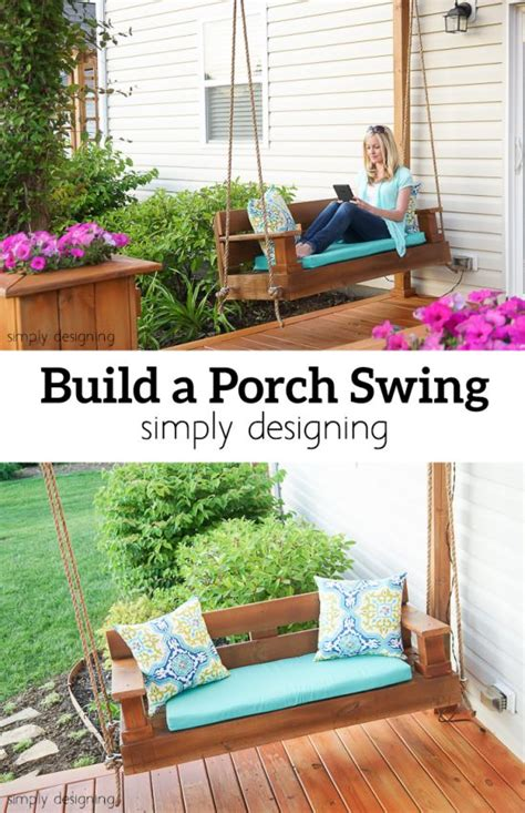 building a porch swing build a porch swing hometalk