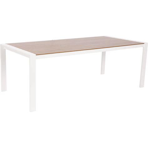 table de jardin resine blanche table de jardin port nelson rectangulaire blanc imitation teck 8 personnes leroy merlin