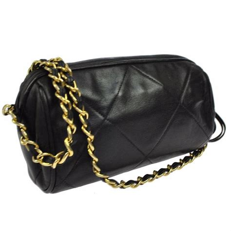 Chanel Evening Lambskin Chain chanel black lambskin quilted gold chain barrel evening shoulder crossbody bag at 1stdibs