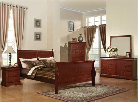 acme furniture bedroom set in cherry ac08670tset 19520 louis philippe 3 bedroom set in cherry by acme