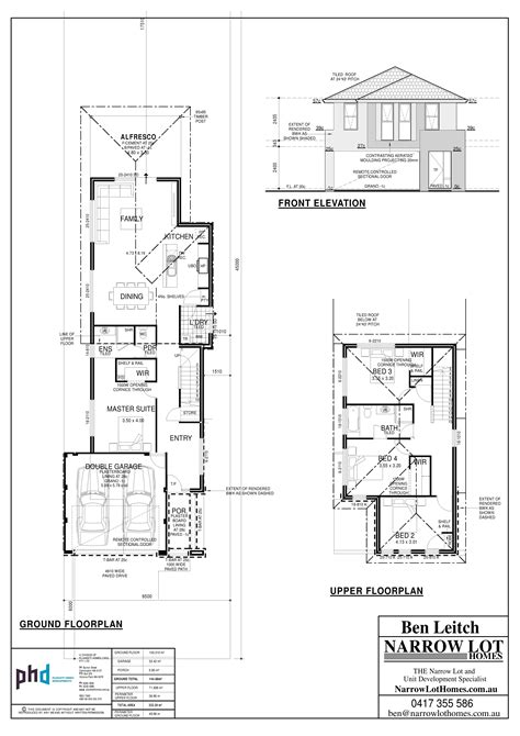 house designs floor plans narrow lots narrow lot house plans perth numberedtype