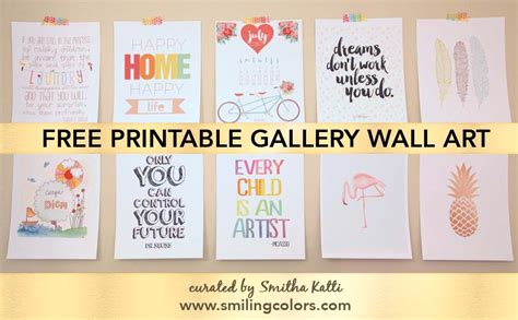 printable art gallery wall printable gallery wall art that will make your room look