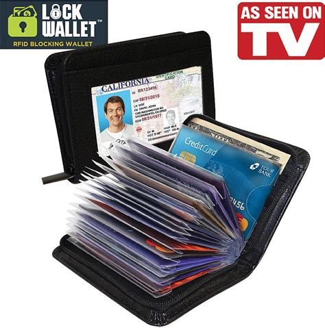 Card Wallet Dompet lock wallet dompet kartu kredit secure rfid blocking