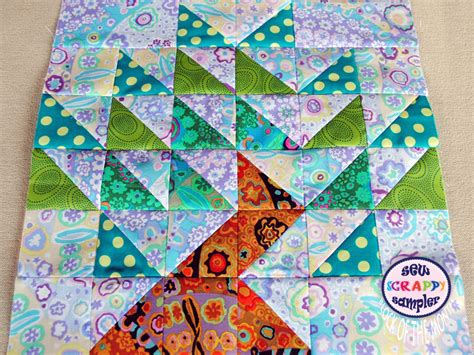 Scrappy Quilt Blocks by Block Of The Month Sew Scrappy