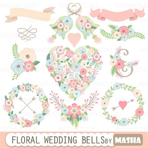 Wedding Bell Flowers by Floral Wedding Clipart Quot Floral Wedding Bells Quot With Floral