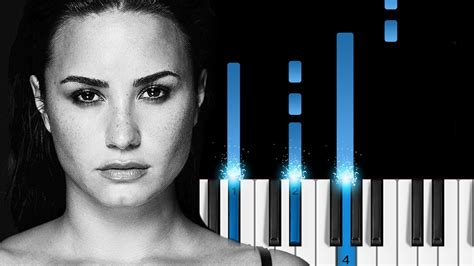 easy demi lovato songs to play on piano demi lovato sober easy piano tutorial youtube