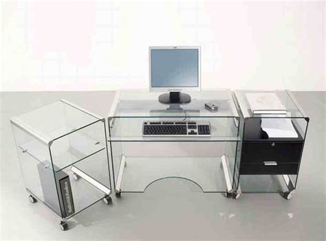 Contemporary Glass Desks For Home Office Modern Glass Desks For Home Office Ideas Inspirations Aprar