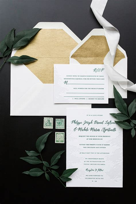 Green Wedding Invitations by Green And White Nature Inspired Wedding Invitations
