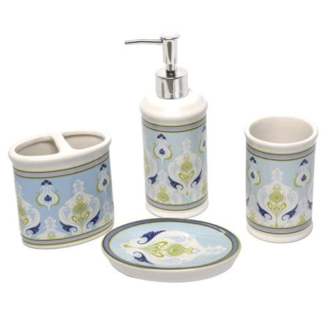 4 piece bathroom accessory set sea scallop bath accessory 4 piece set bathroom