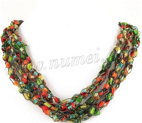 Handmade Ribbon - handmade ribbon necklace mg4068