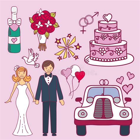 Nuptial Marriage by And Groom Wedding Marriage Nuptial Icons