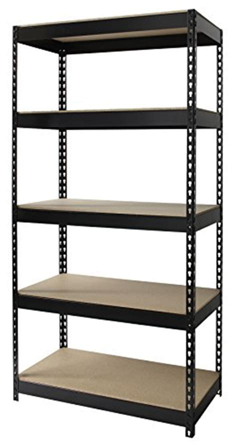 Design Ideas For Iron Bookcase Iron Rivet 5 Shelf Metal And Wood Shelving Unit 18 Inch Import It All